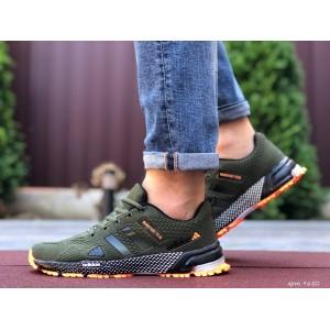 Мужские летние кроссовки Adidas Marathon TR 26,сетка,темно зеленые