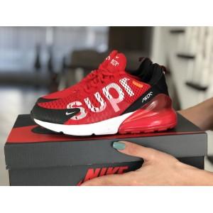 Женские кроссовки Nike Air Max 270 Supreme,красные