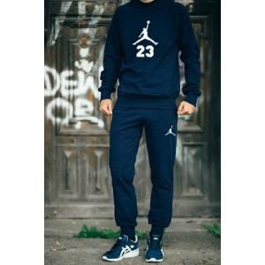 "Темно-синий костюм Jordan теплый (белое лого) """" В стиле Jordan """" 0547"