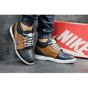 Мужские зимние кроссовки Nike кожаные,на меху 44р