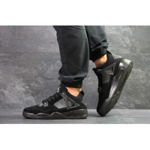 Модные кроссовки Nike Air Jordan Flight,замшевые,черные