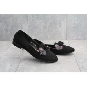 Туфли GG -448 Girnaive (весна/осень, женские, искусственная замша, черный)