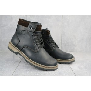 Ботинки мужские Yuves Obr 3 черные-матовые (натуральная кожа, зима)