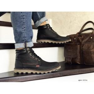Мужские зимние ботинки Levis,на меху,черные