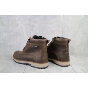 Ботинки мужские Yuves 774 коричневые-матовые (натуральная кожа, зима)