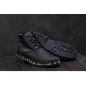 Ботинки Yuves 444 (Clarks) (зима, мужские, натуральная кожа, черный/матовый)