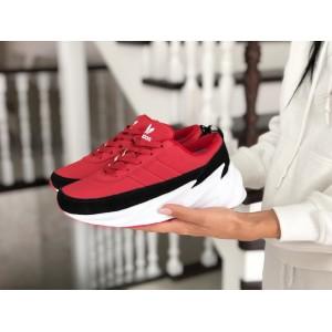 Подростковые зимние кроссовки Adidas Sharks,красные