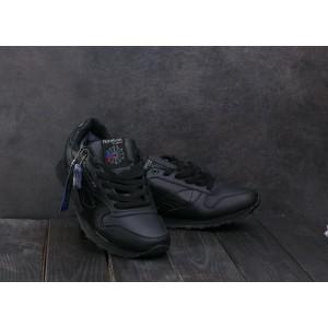 Мужские кроссовки искусственная кожа зимние черные Aoka МА 5053 -1