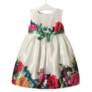 Платье для девочки Пионы, зеленый Zoe Flower