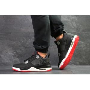 Модные кроссовки Nike Air Jordan Flight,нубук,черно-белые 46р