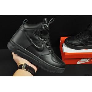 ботинки Nike Lunar Force 1 арт 20661 (зимние, найк, черные)