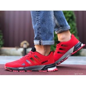 Мужские летние кроссовки Adidas Marathon TR 26,сетка,красные