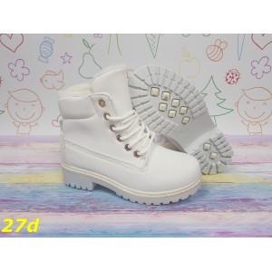 Детские ботинки тимбер зима белые