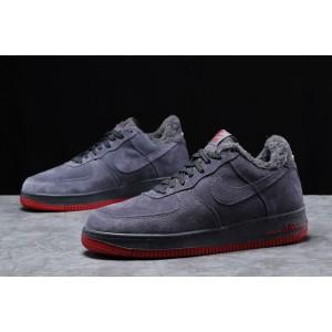 Зимние мужские кроссовки 31732, Nike Air AF1 (мех), темно-серые, [ 42 43 ] р. 43-27,6см.