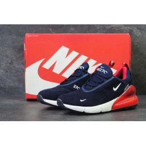 Мужские кроссовки Nike Air Max 270,темно синие с белым