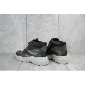 Ботинки женские BENZ 70602.2 черные-серые (натуральная кожа, зима)