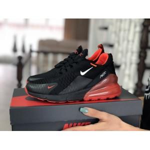 Женские кроссовки Nike Air Max 270,сетка,черные с красным