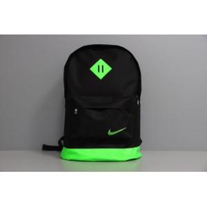 Рюкзак городской мужской, женский, для ноутбука Nike (Найк) черный-зеленый