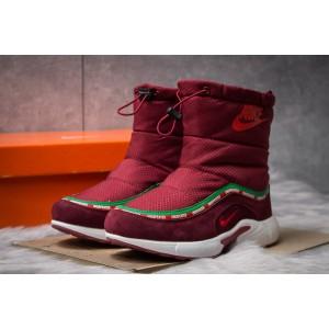 Зимние женские ботинки 30632, Nike Apparel, бордовые ( размер 36 - 22,8см )