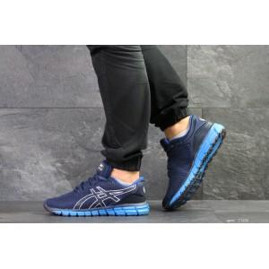Мужские кроссовки Asics,сетка,темно синий