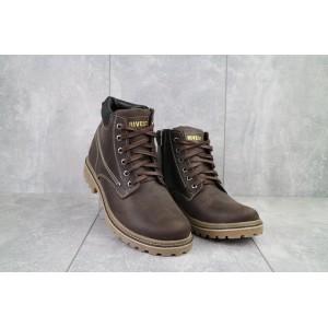 Ботинки мужские Rivest Rк коричневые (натуральная кожа, зима)