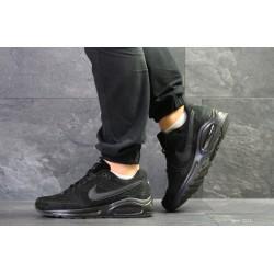 Кроссовки мужские Nike air max,замшевые,черные 45р
