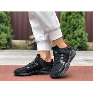 Летние кроссовки Adidas Equipment,сетка,черные с красным