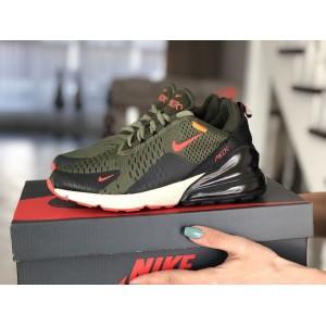 Женские кроссовки Nike Air Max 270,сетка,темно зеленые