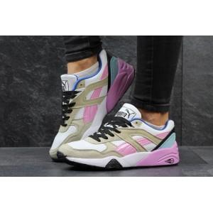 Женские кроссовки Puma Trinomic,бежевые с розовым 38р