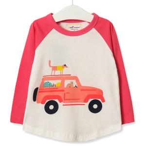 Кофта для девочки Зверушки на машине Little Maven