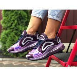 Модные женские,текстильные кроссовки Nike Air Max 720, фиолетовые
