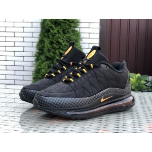 Мужские термо кроссовки Nike air max 720,черные с желтым
