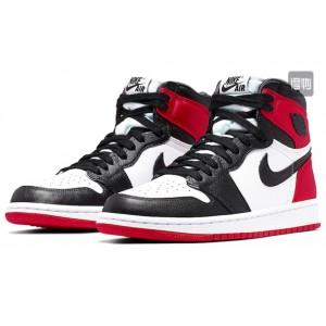 Модные подростковые кроссовки Nike Air Jordan, белые с красным/черным