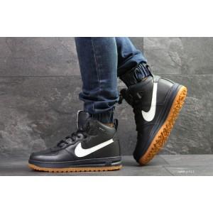Кроссовки зимние Nike Lunar Force 1,темно синие с белым, на меху 44р
