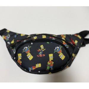 Бананка поясная сумка летняя мужская женская детская Барт Симпсоны simpson черная