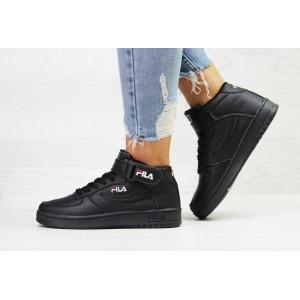 Подростковые высокие кроссовки Fila,черные