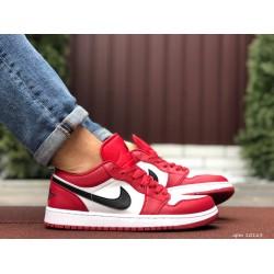 Мужские демисезонные кроссовки Nike Air Jordan 1 Retro,красные с белым