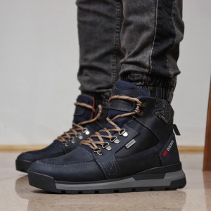 Зимние мужские ботинки 31911, Diesel Denim Devision, темно-синие, [ 44 ] р. 44-29,0см.