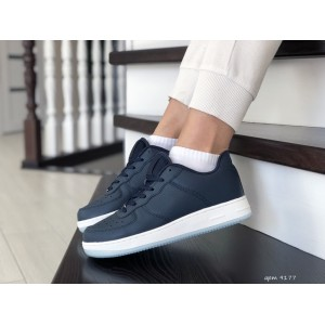 Весенние женские кроссовки Nike Air Force, темно синие