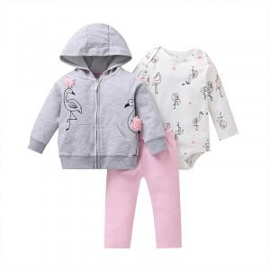 Комплект для девочки 3 в 1 Чудесные фламинго Berni