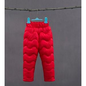 Штаны утепленные детские, красный Berni