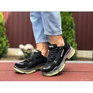 Модные женские кроссовки Balenciaga,Баленсиага,черно белые