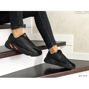Женские (подростковые) кроссовки Adidas Yeezy Boost 700,черные
