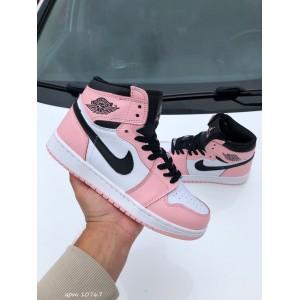 Модные подростковые кроссовки Nike Air Jordan, розовые с белым