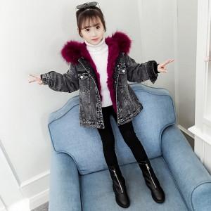 Куртка джинсовая для девочки демисезонная 2 в 1 Крылья Berni