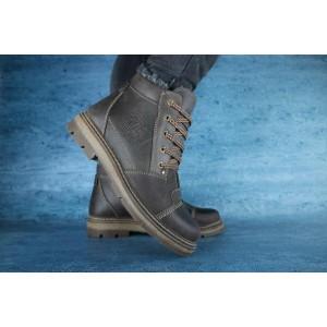 Мужские зимние ботинки Westland кожаные,коричневые