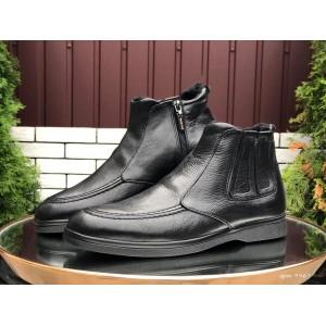 Мужские зимние ботинки (полуботинки) VanKristi Black,на меху