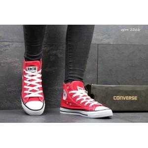 Женские Кеды Converse высокие красные 36
