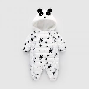 Комбинезон утепленный детский Звёздная панда, белый Berni