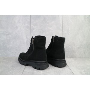 Ботинки женские Kristi Vita черные (замша, зима)